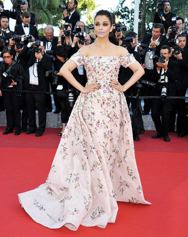 aishwarya rai purple lipstick cannes beauty trends