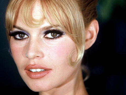Brigette Bardot with a classic red carpet beauty look