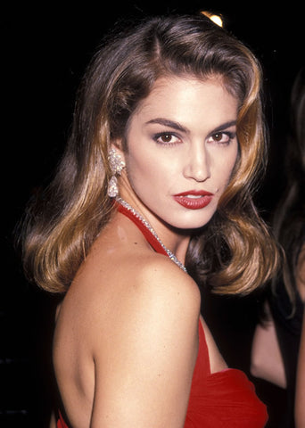cindy crawford red carpet glamour