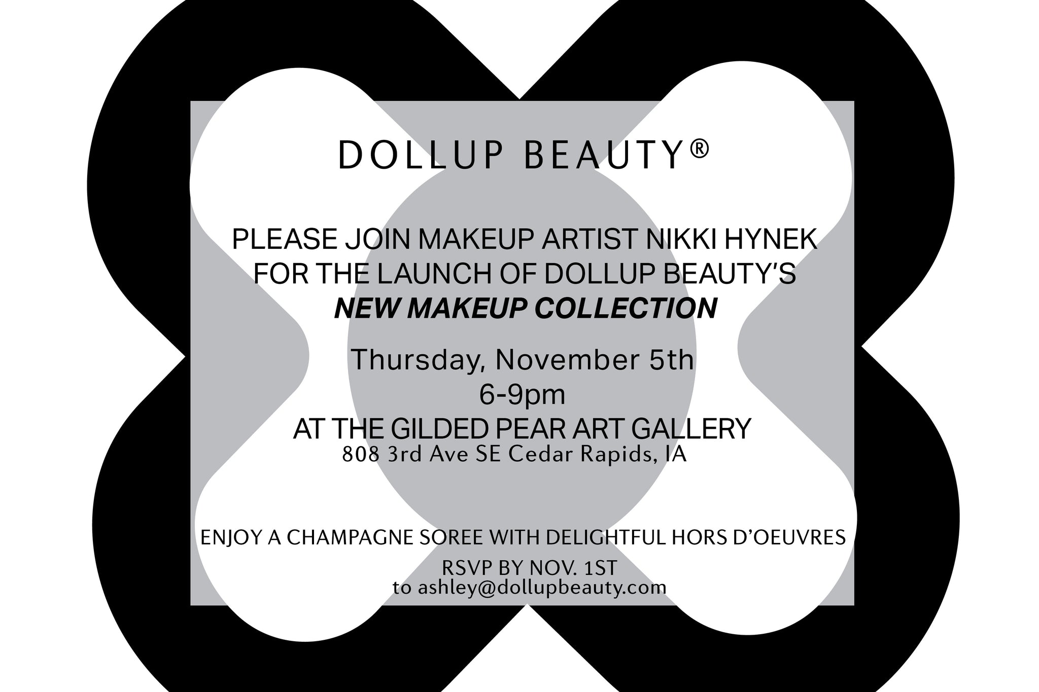 Dollup Beauty makeup launch party cedar rapids iowa naked magnetic palette