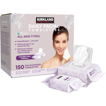 Best makeup wipes towelettes to remove makeup Costco Kirkland Signature