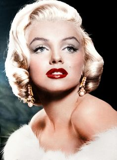marilyn monroe red lipstick perfect for wedding makeup for bride and bridesmaids
