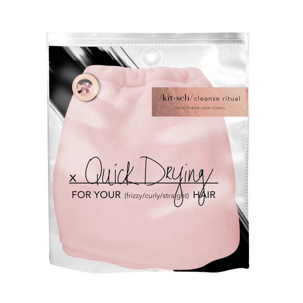 KITSCH - Blush Microfiber Hair Towel