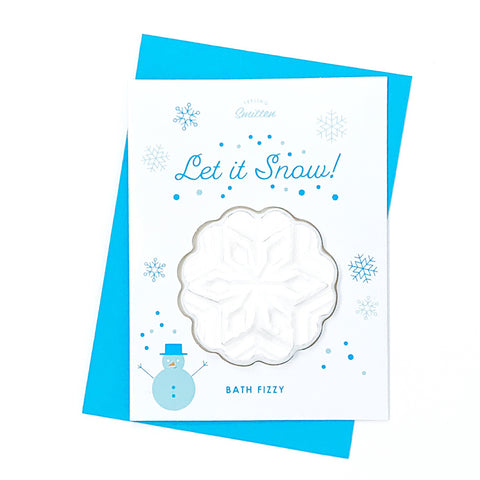 Feeling Smitten - Let It Snow Bath Card