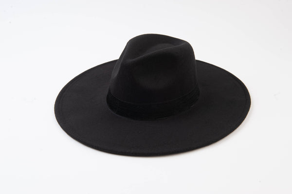 Lucca Couture - Black Pattern Trim Fedora
