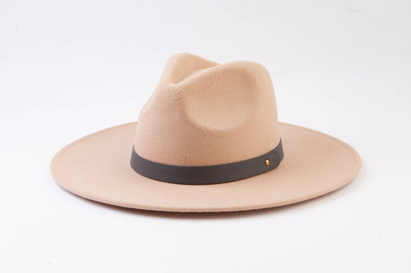 Lucca Couture - Preorder Cream Wool Fedora with Trim