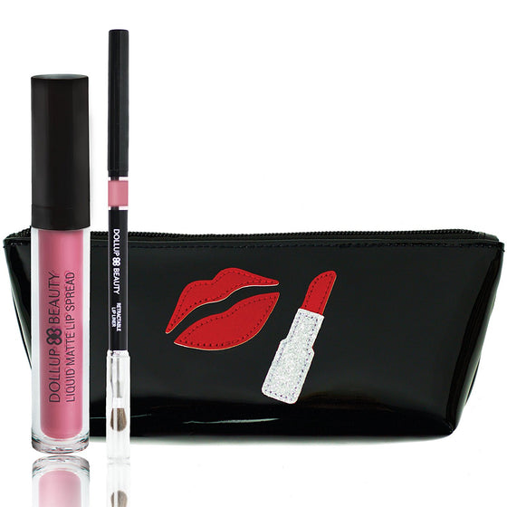 Words to Lip By Lippie Kit - Kill 'em with Kindness and Lipstick