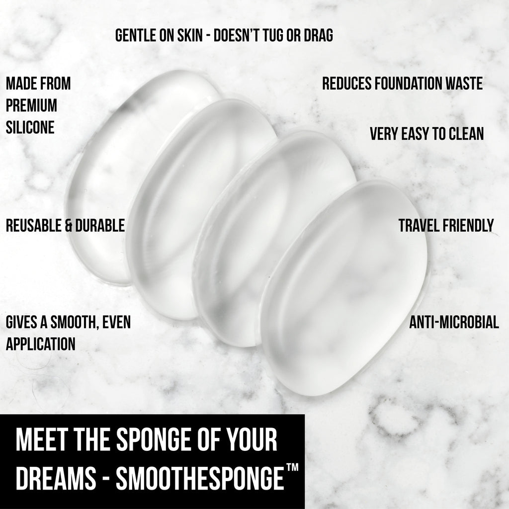 SmoothySponge™ / Clear Silicone Makeup Sponge