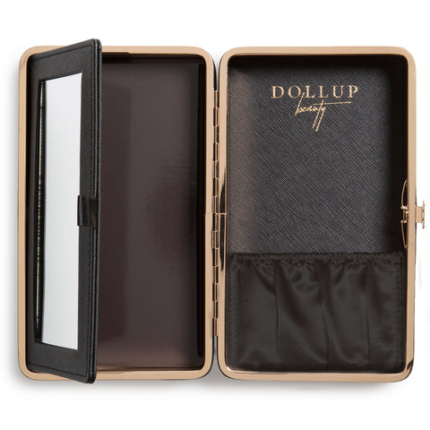 Dollup Case Makeup Organizer Jetset Black With Magnetic Palette