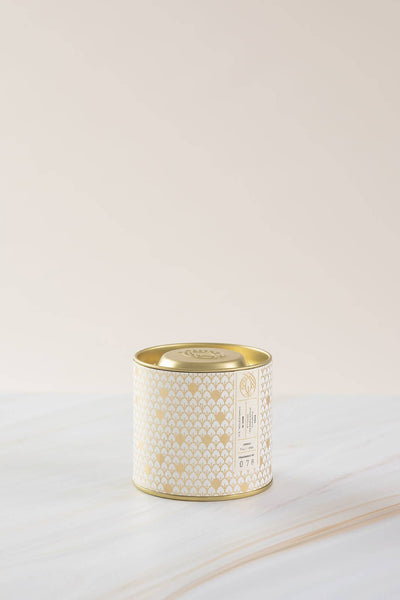 Candlefish - No. 78 Gold Tin w/ Embossed Lid (Fall White) 7 oz