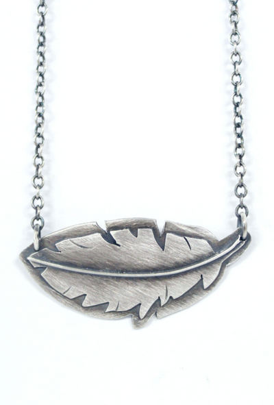 Feather Necklace Front View