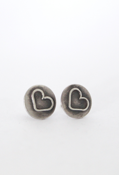 Little Hearts Earrings Front View