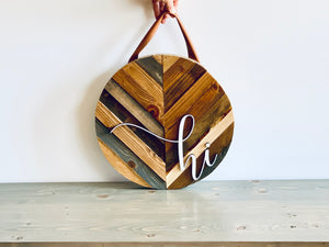 Door Hanger - Chevron