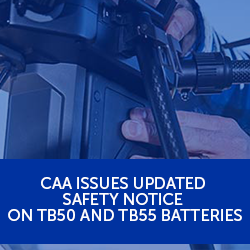 CAA issues updated safety notice on TB50 and TB55 batteries
