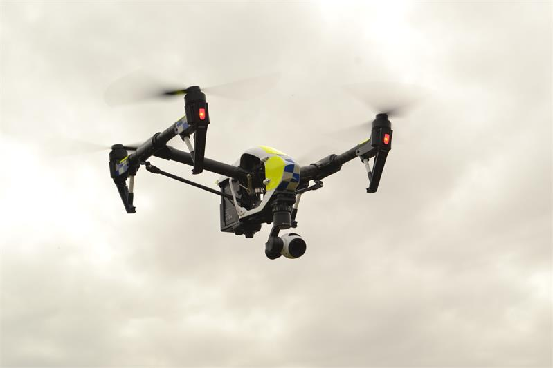 More UK Police Drone Trials with DJI Inspire Quadcopter