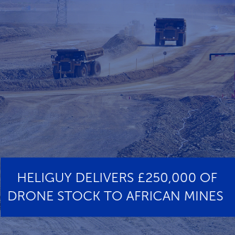 Heliguy delivers £250,000 of drone stock to African mines