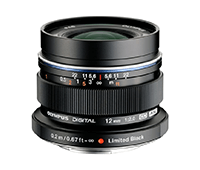 Olympus 12mm f2 M.ZUIKO DIGITAL ED Lens Black