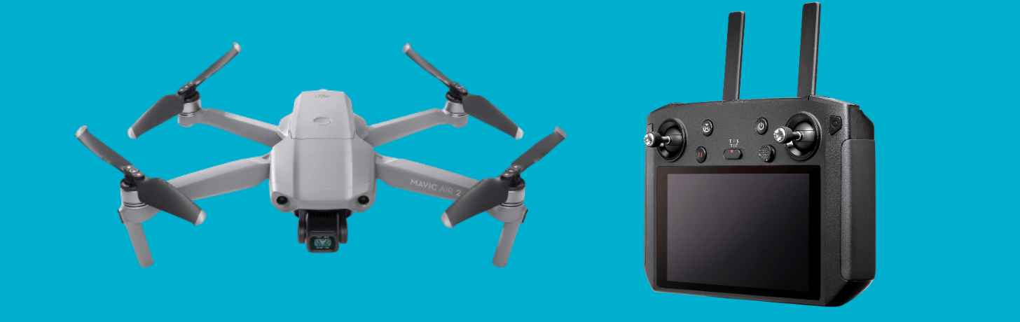 The Mavic Air 2 can be be flown using the Smart Controller.