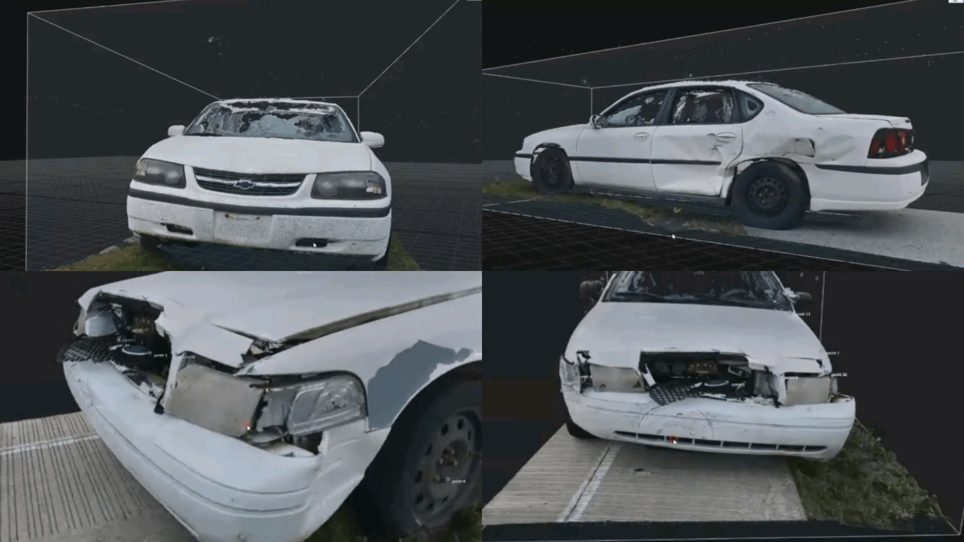 Gain a deep understanding of a crash by viewing vehicle damage up close.