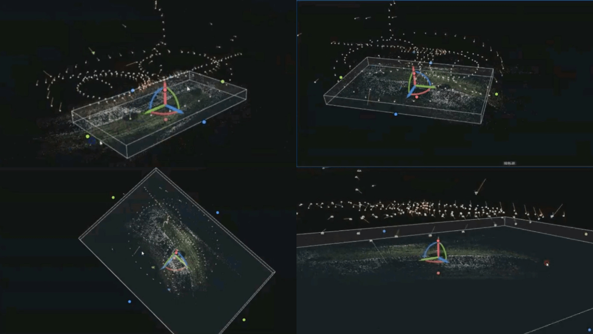 Once you have your drone data, upload it into photogrammetry software and create a point cloud.