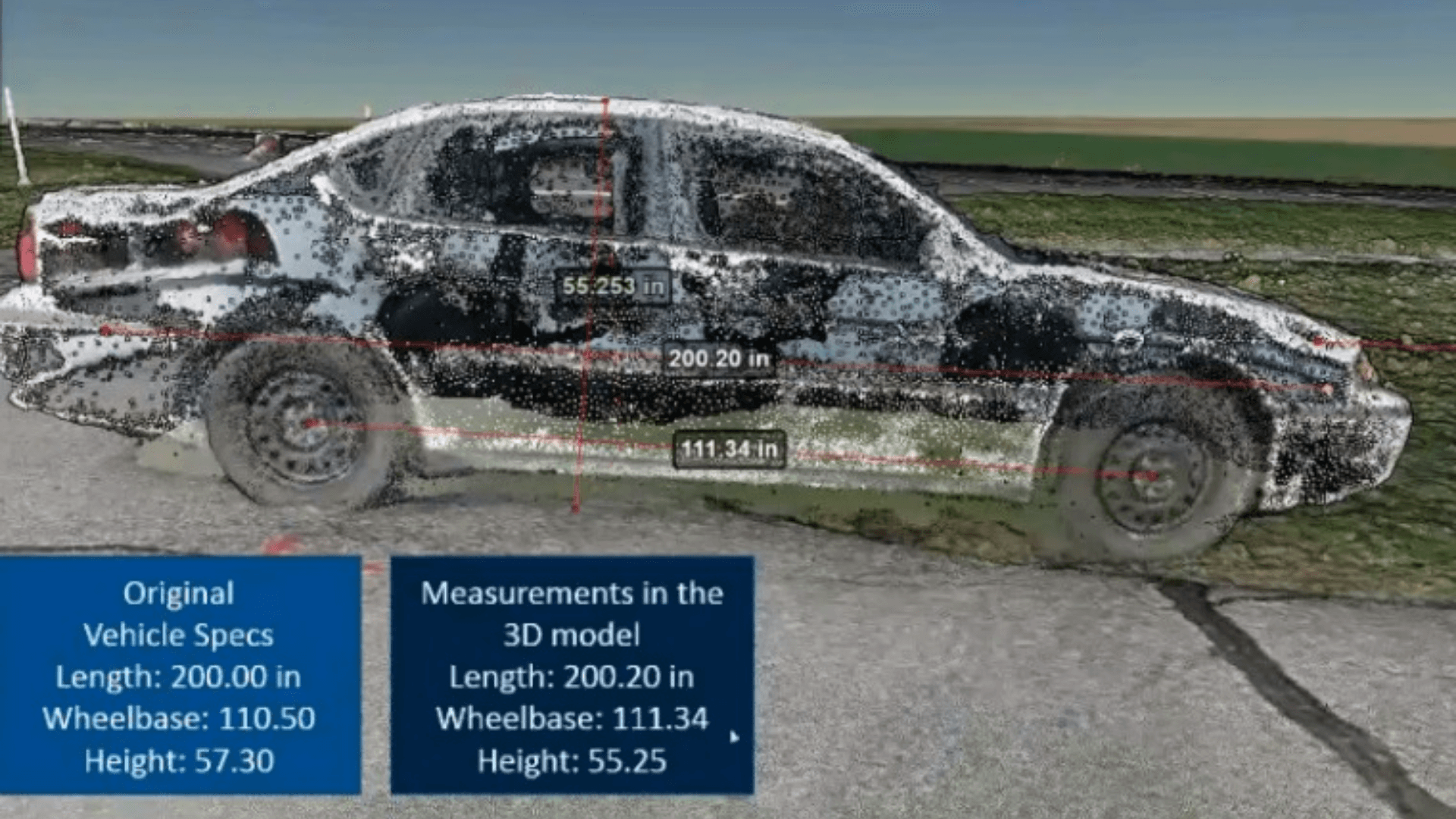Drone data is highly accurate for accident reconstruction.