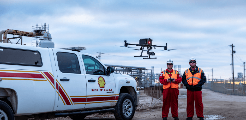 Oil giant Shell is using the DJI M300 RTK.