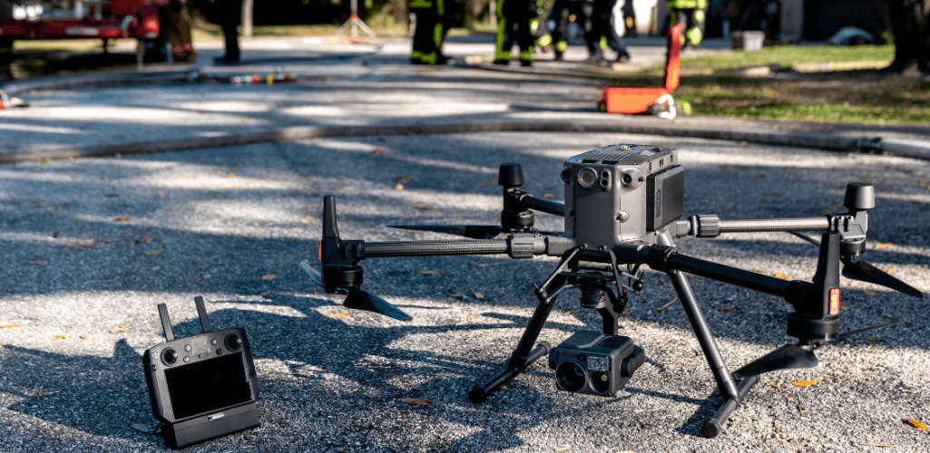 The M300 RTK with H20 Series camera and DJI Smart Controller Enterprise.