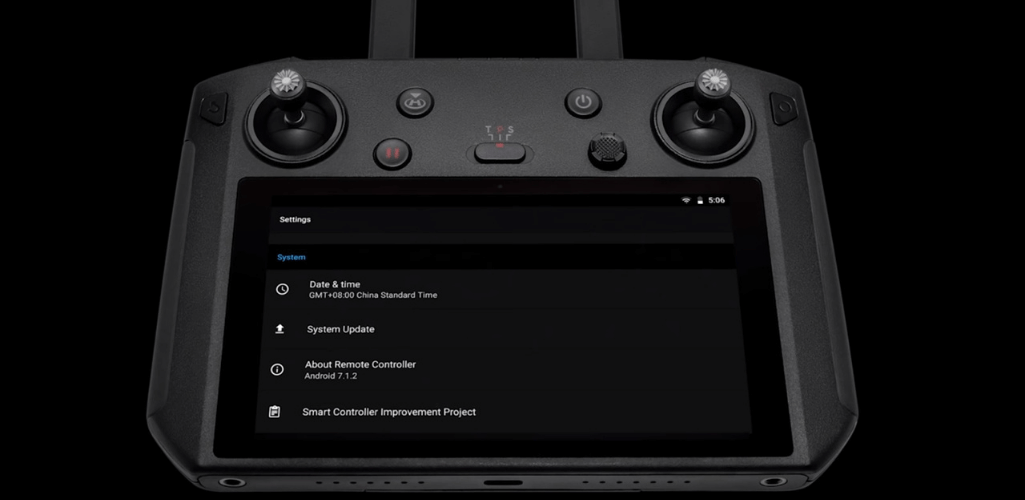 How To Update The DJI Smart Controller - Step Three: Scroll down to the bottom of the page. Tap System Update.