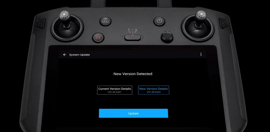 How To Update The DJI Smart Controller - Step Four: Follow the system instructions to update the firmware.
