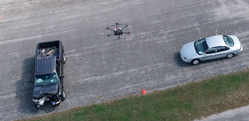 Using a drone for accident reconstruction can shave many hours off the once time-consuming process.
