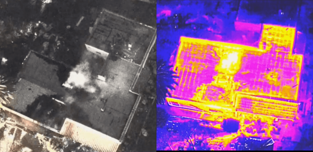 Using a drone with a thermal camera provides firefighters with vital situational awareness.
