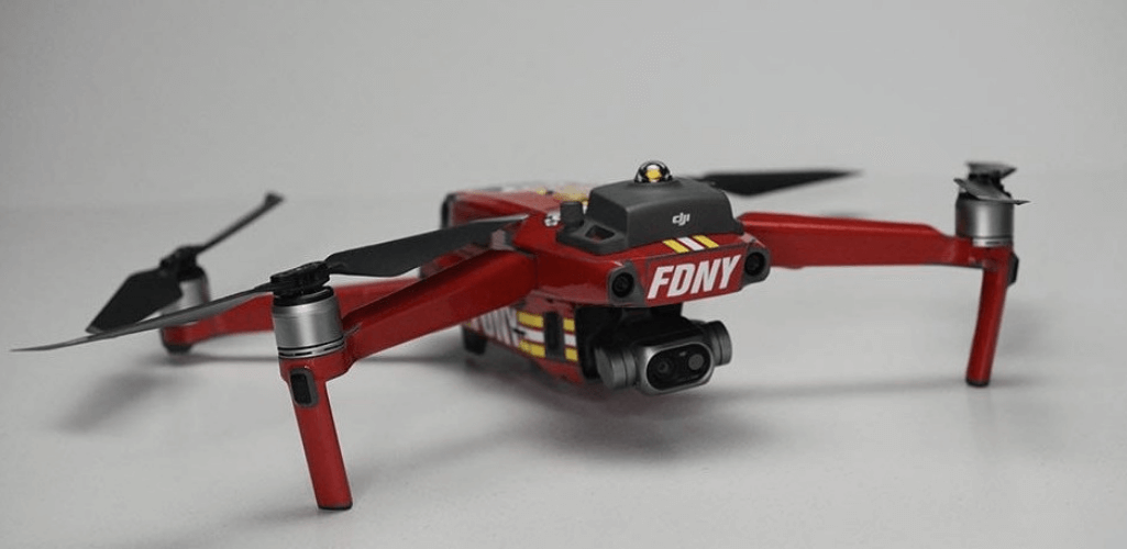 New York Fire Department uses the Mavic 2 Enterprise Dual for 90% of its work.
