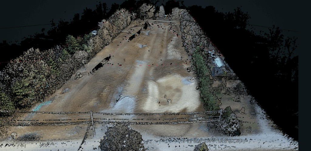 A LiDAR point cloud can be useful for surveying missions.