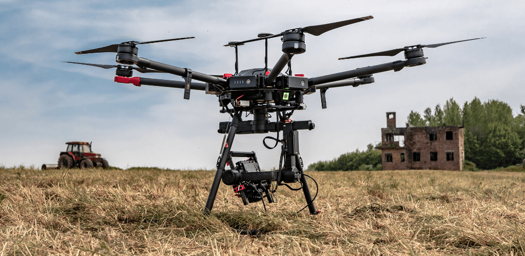 The DJI M600 Pro drone with Sony RX1R II sensor.
