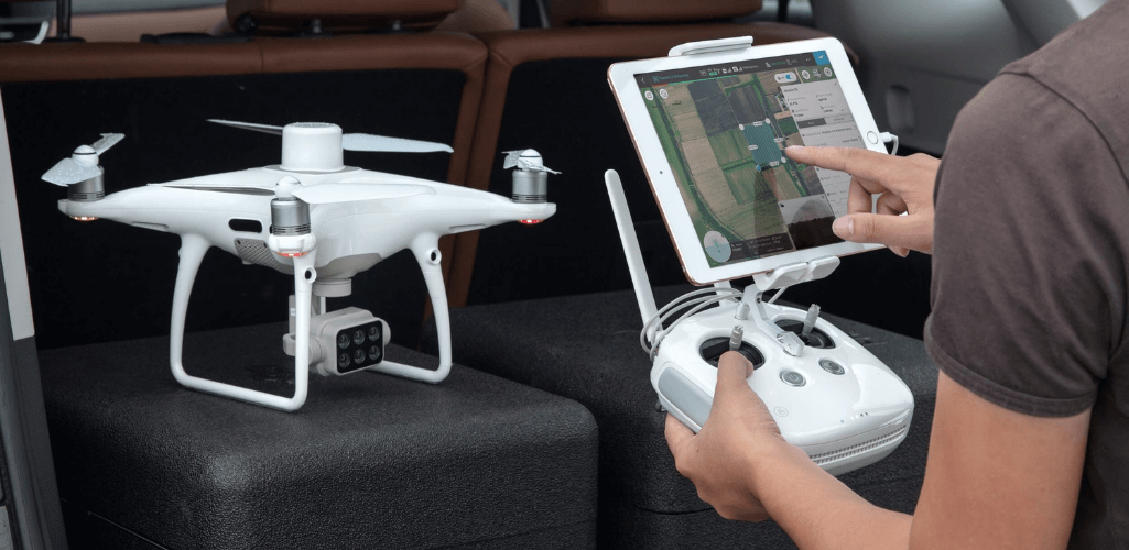 The DJI Phantom 4 Multispectral.