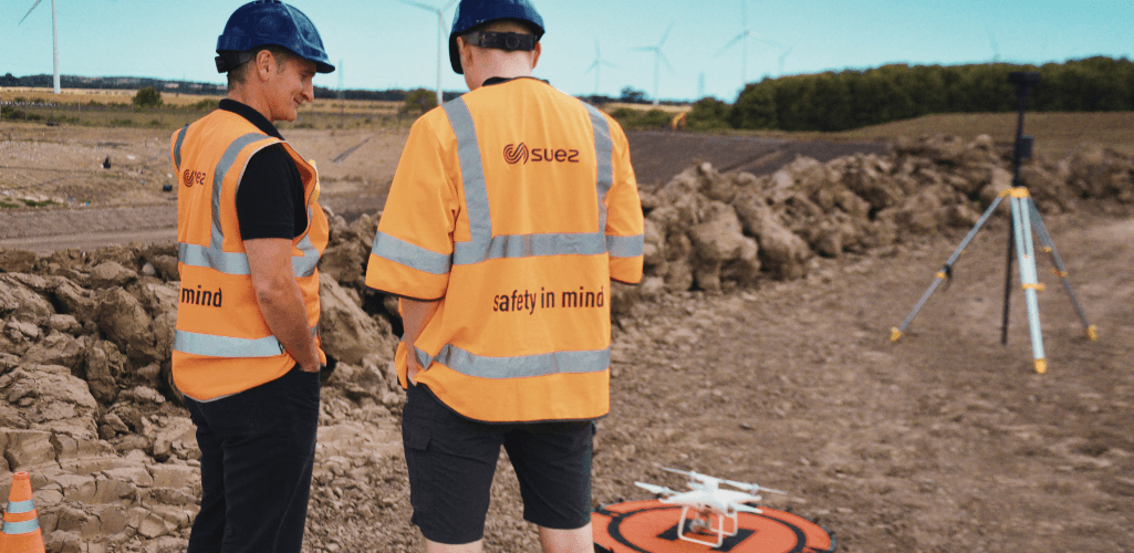 Drones can play an important role in waste management.