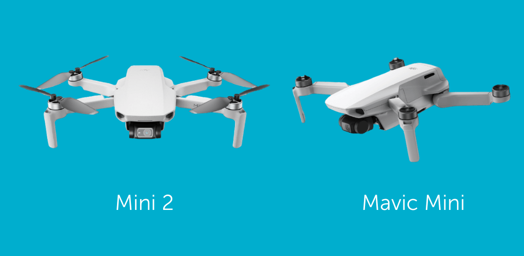 There isn't much between the Mini 2 and Mavic Mini in appearance.