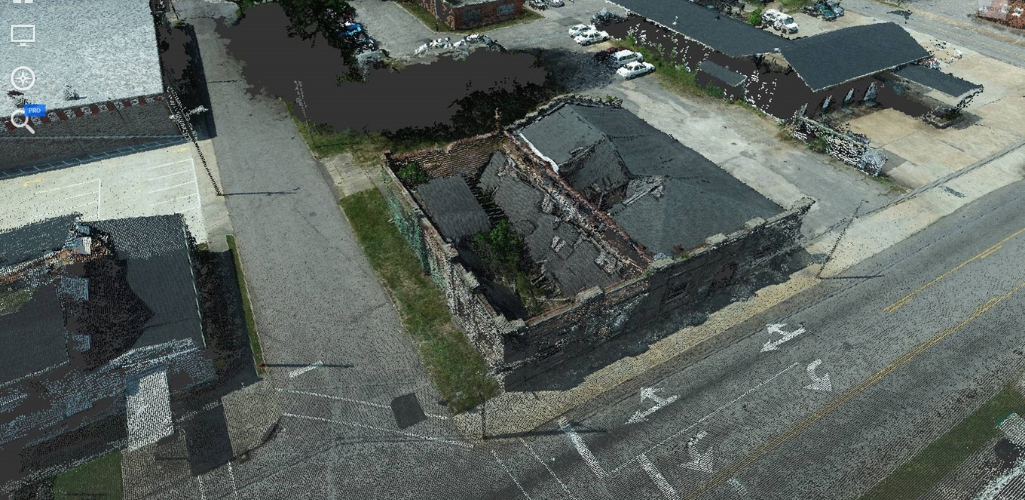 A point cloud from the Phantom 4 RTK.