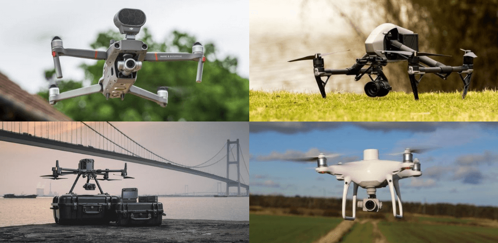 Some of DJI's most popular commercial drones.