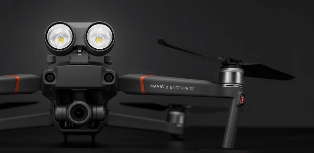 The DJI Mavic 2 Enterprise with the spotlight attachment is suitable for BVLOS flights.