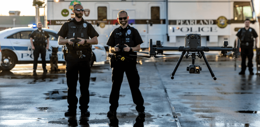 The DJI M300 RTK is a powerful drone for first responders, even more so with new FAA Tactical BVLOS waivers available for extended missions.
