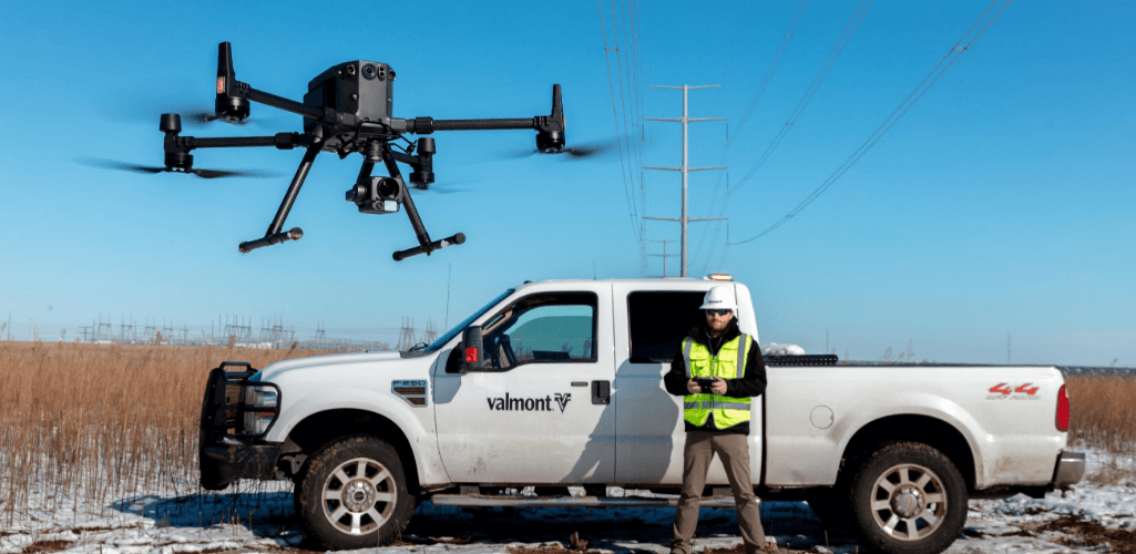 Valmont Utility is using the DJI M300 RTK drone.
