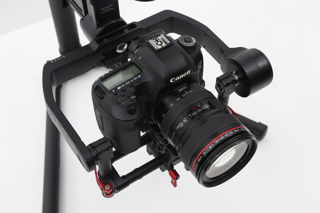 A Canon 5D MkIII on the DJI Ronin-M.