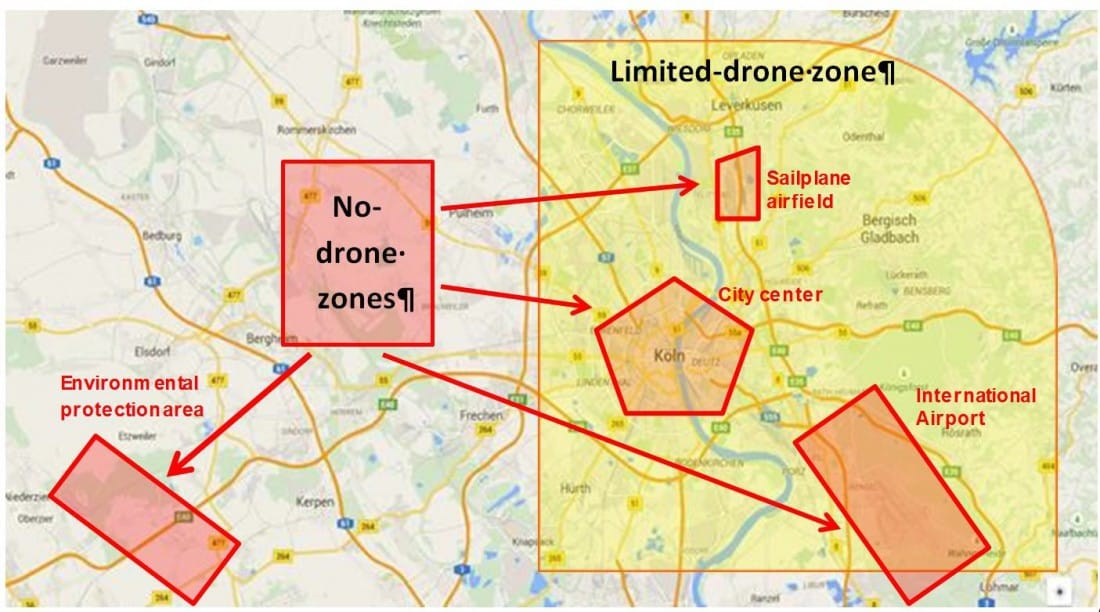 Euro no fly zones map