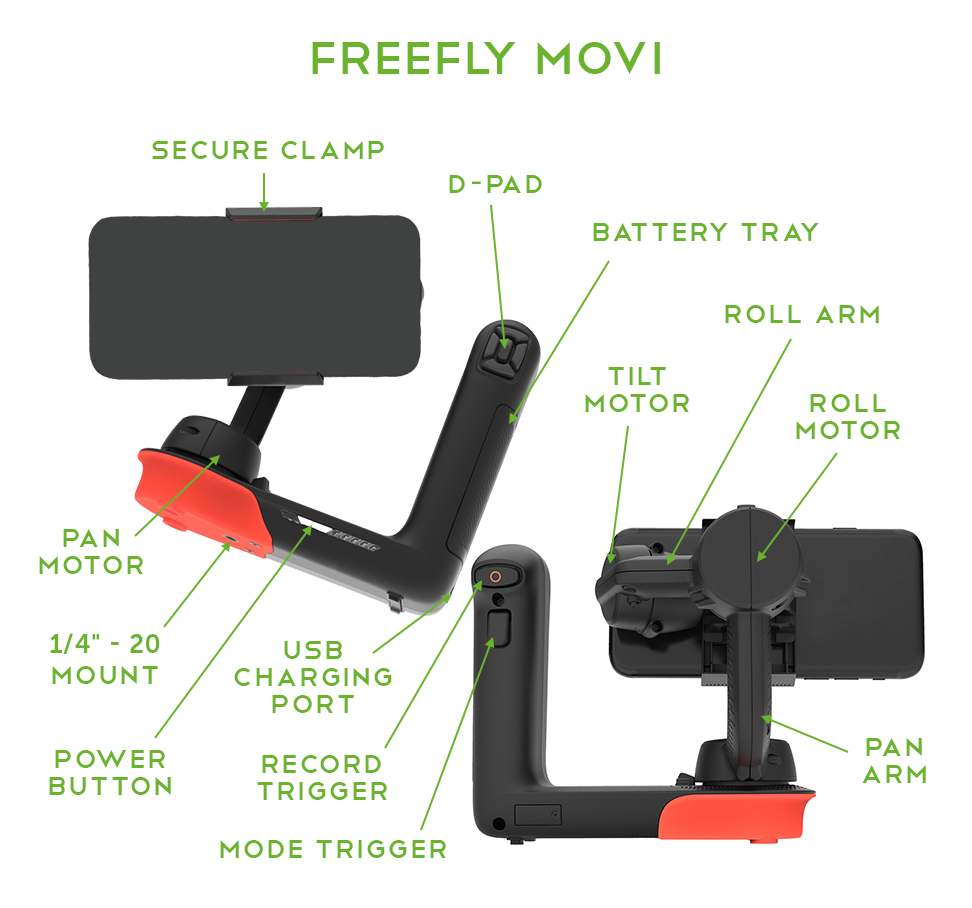 Freefly Movi Controls and Features