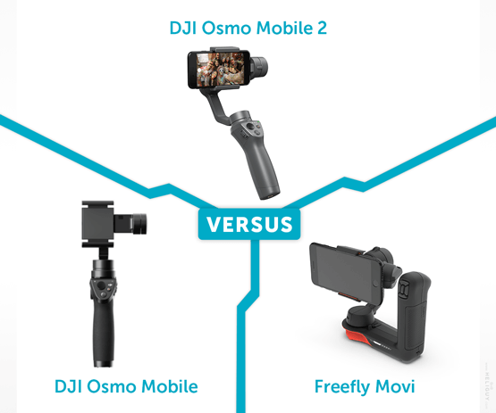 DJI Osmo Mobile 2 Vs Osmo Mobile Vs Freefly Movi | Heliguy