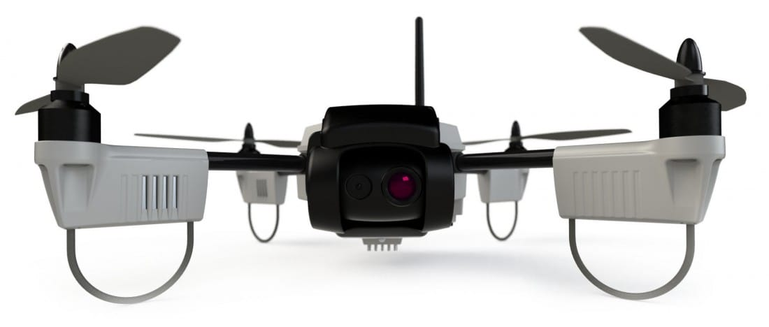 Huginn X1 with infrared and optical cameras