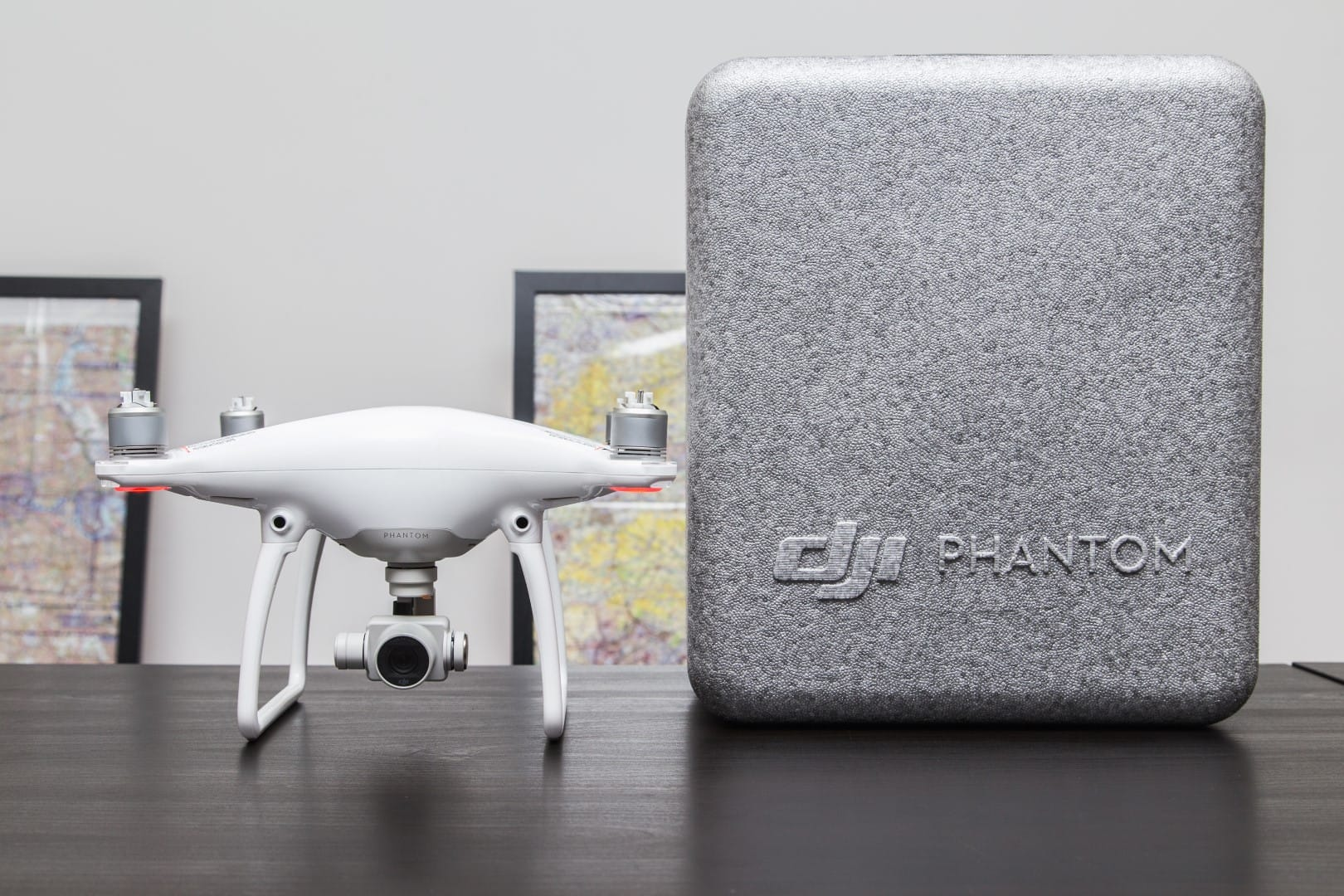 The Phantom 4, remote controller and case