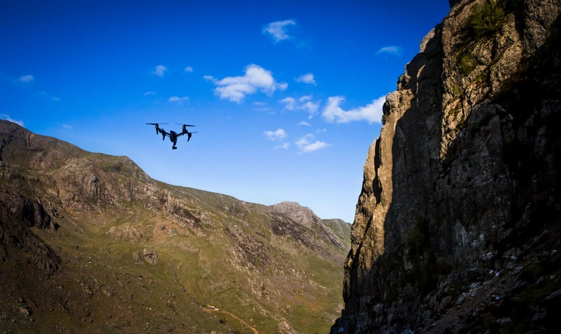DJI Inspire in the mountains