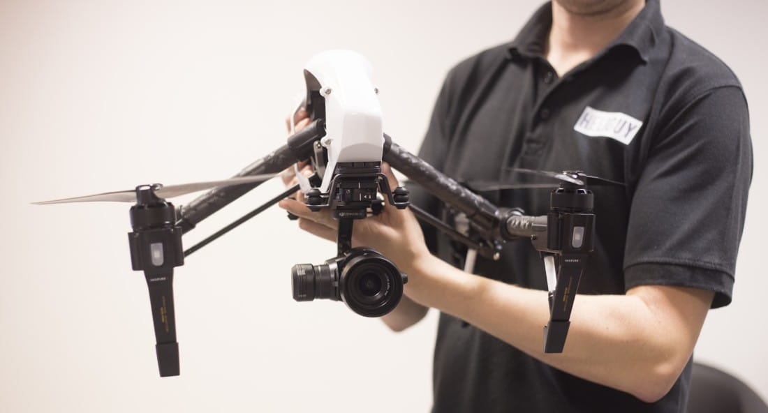 DJI Inspire 1 Pro delivery